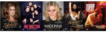 Adele, One Direction, Madonna, Beyonce & Kanye West