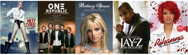 Miley Cyrus, One Republic, Britney Spears, Jay Z & Rihanna